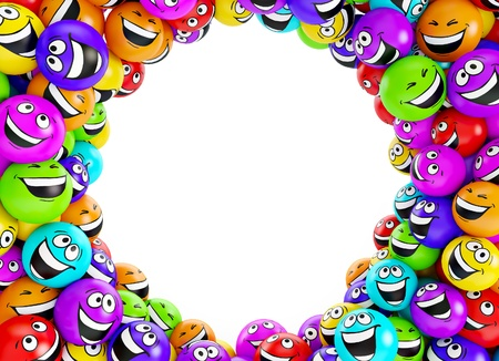 nice smile: Funny colorful smiles. Positive emotions