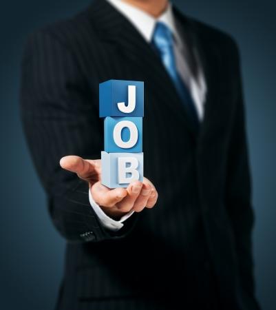 job advertisement: Employer  Job Search  Stock Photo