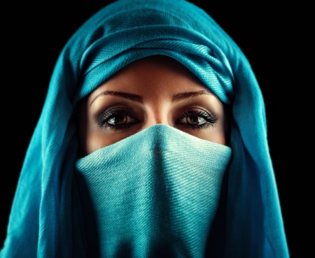 burqa: Young Arabic woman. Stylish portrait Stock Photo