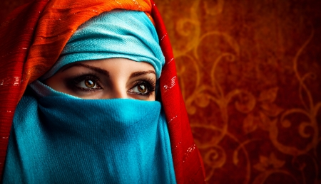 arab: Young Arabic woman. Stylish portrait Stock Photo