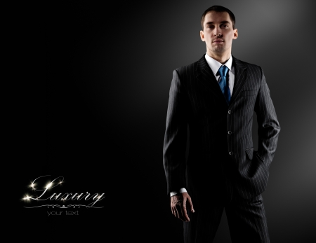 tuxedo: businessman in a luxury suit  Stock Photo