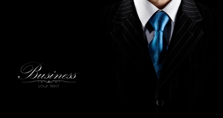 elegant business man: businessman in a luxury suit  Stock Photo