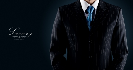 coat and tie: businessman in a luxury suit  Stock Photo