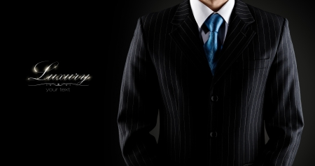 businessman in a luxury suit  photo