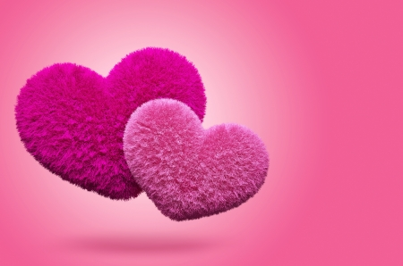 Fluffy hearts  Valentine
