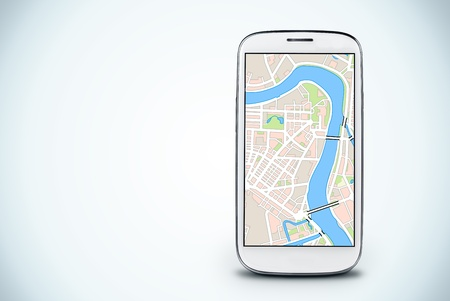 smartphone on a light background   Gps navigation photo