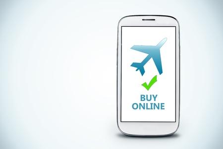 avia: smartphone on a light background   Buy online Stock Photo