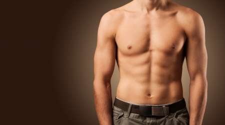 male torso: Beautiful male torso  Muscular man