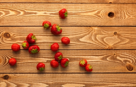Berries on Wooden Background. Stock Photo - 21436048