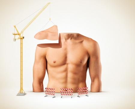 male torso: Beautiful male torso  Construction of body  Bodybuilding