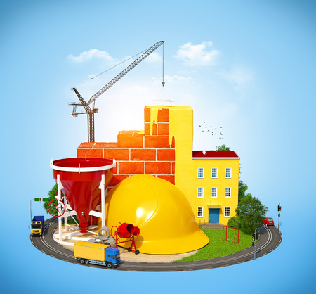 Construction Site.  Concept of construction of buildings photo