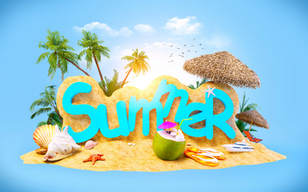coctail: Bright, unusual and colorful summer background