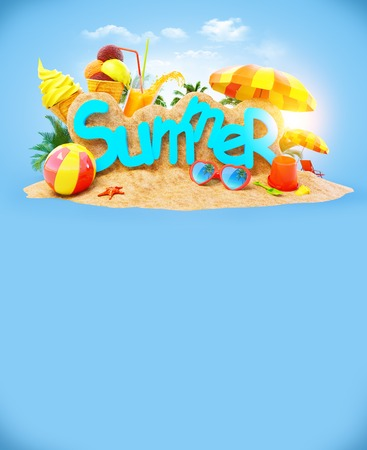Bright, unusual and colorful summer background photo
