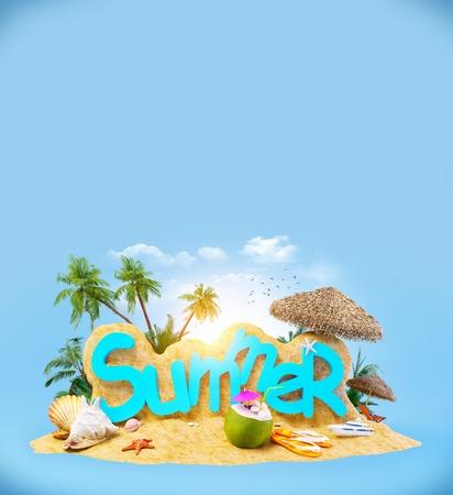 Helder, ongewone en kleurrijke zomer achtergrond Stockfoto