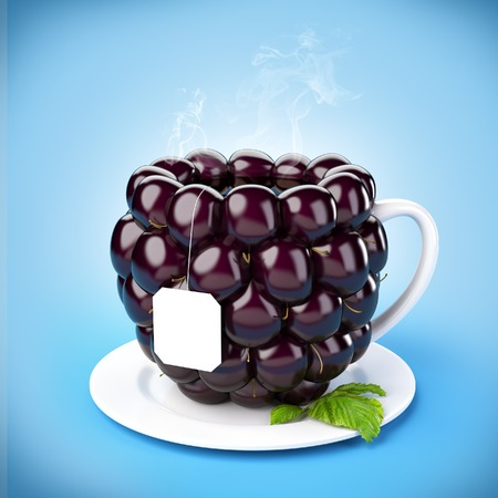 Blackberry tea mug.  photo
