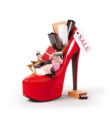 Compras de moda en una mujer Foto de archivo - 28342737
