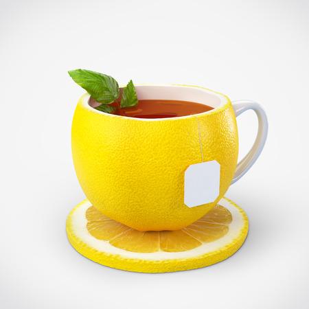 lemon slices: Lemon tea - Healthy food  Lemon drink  Stock Photo
