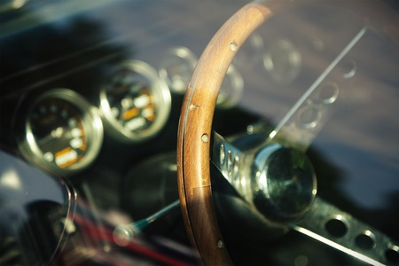 vintage power: Interior photo of the American classic car
