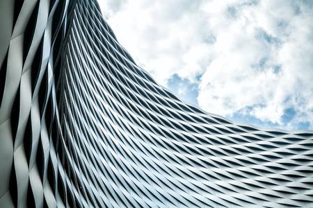 acier: Architecture urbaine moderne. Résumé de fond