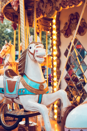 merry go round: Carousel in a holiday park