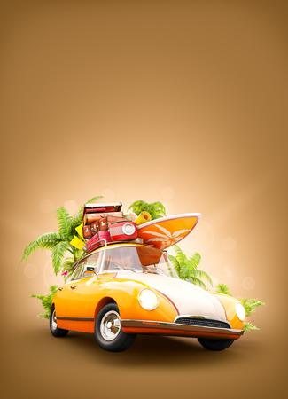 Rueda de cami/ón 14-17inch Todoterreno Olive Croft Cubierta de llanta Furgoneta Vintage con Tabla de Surf en Palmera y Cubierta de Cubierta de llanta de Repuesto para Remolque RV