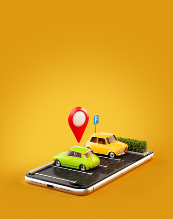 Location pin drop for parking and car sharing concept Stock Photo