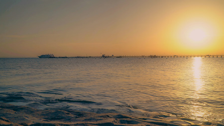 Red Sea sunrise from behind the horizon video UHD