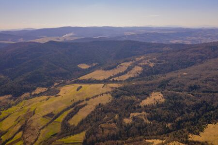 Aerial Drone Foto Aerial view of the Carpathian mountains in autumn