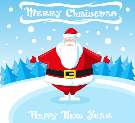 Санта клаус открытки флеш с днем рождения женщине