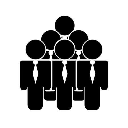 Business People Silhouettes. Figure human. Vector illustration. Illustration