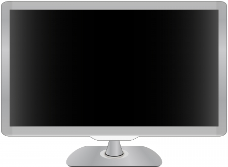 flat screen tv: TV with flat screen lcd illustration