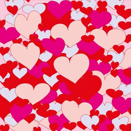 february 14th: abstract background with love hearts Valentine Illustration