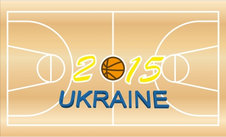 basketball theme of the upcoming events of the championship of Europe in Ukraine