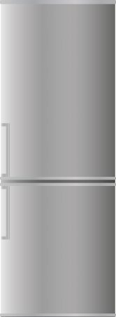 beverage display: Refrigerator with two doors, with aluminium color