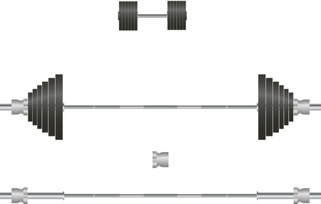 Barbell, dumbbell Stock Vector - 21520871