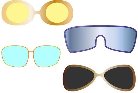 glases: The vector set of sun eye glasses