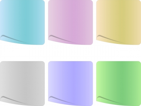 The empty paper sheet set in pastel colors Stock Vector - 21532652