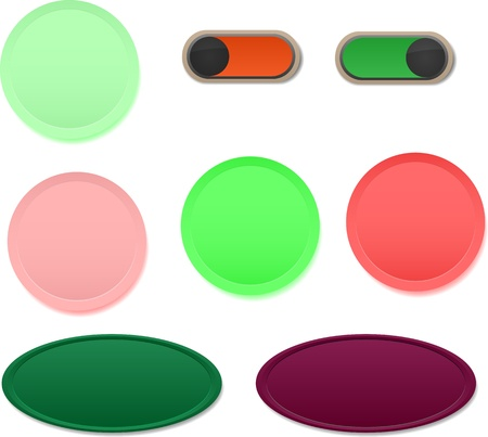 Set of blank buttons with different colors Stock Vector - 21641775