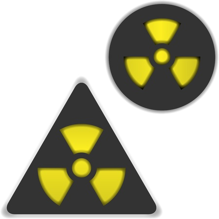 symbols of radiation and bio hazard Stock Vector - 21641760