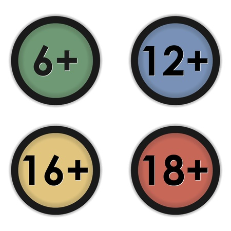 set icons of age restriction signs Vector