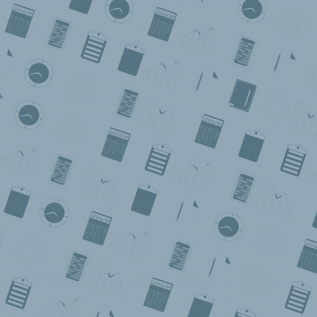 The seamless pattern with office icons Vector