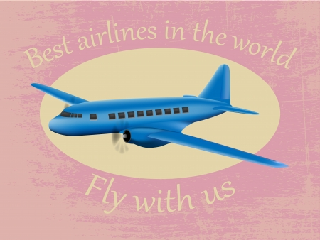 Vector airplane Best airlines in the world grunge poster Vector