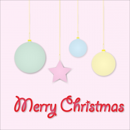 Vector illustration Merry Christmas greetings, light colors