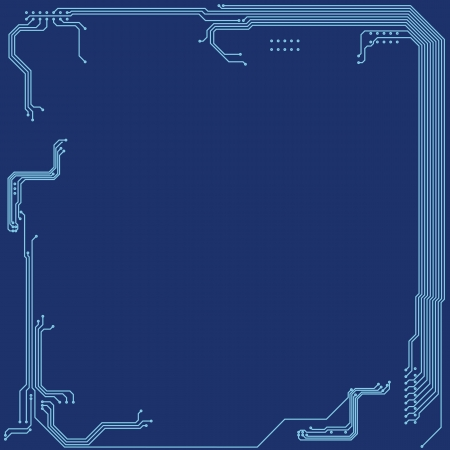 mother board: Microchip background Illustration with blue ton colors