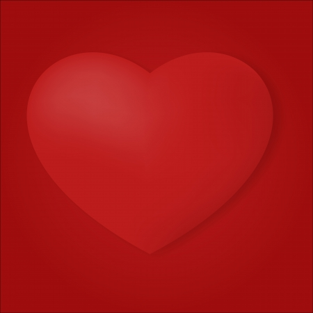 Valentines day graphic illustration in red tone