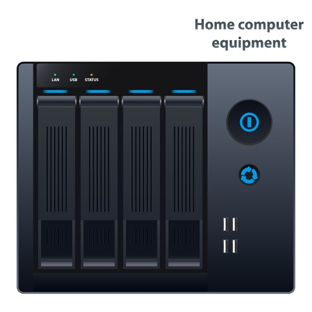 Vector NAS storage for four hard drives