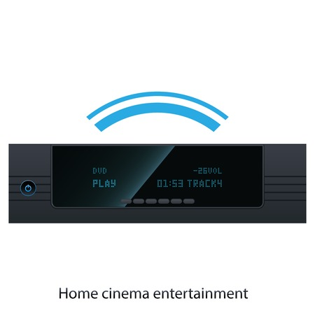 home cinema:  Vector illustration HD Media Player for home cinema Illustration