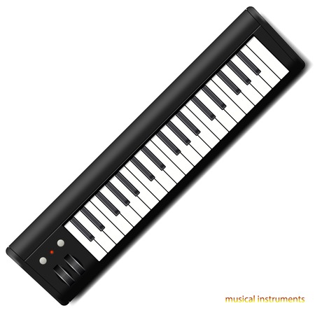 synthesizer: Synthesizer, detalized vector illustration of music instrument Illustration