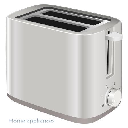 Bread Toaster modern design realistic vector illustration
