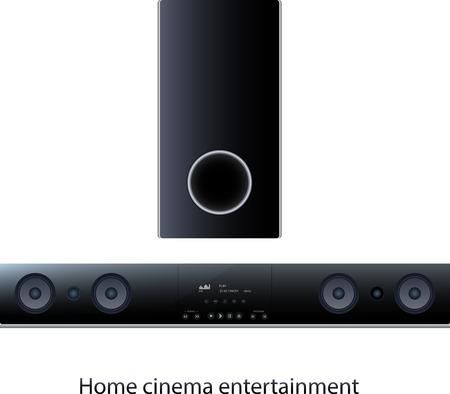 Vector Soundbar panel with subwoofer for home cinema